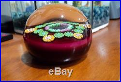 Rare Exquisite Perthshire Rooster Millefiori Glass Paperweight 1977