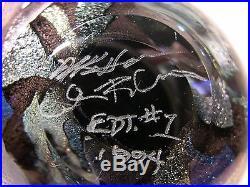 Rare Hansen & Paladino Caron EDT. #1 Magnum Paperweight Sculpture Dichroic Glass