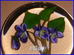 Rare Paul Stankard Paperweight Purple Violets Ed. 47/100 1983