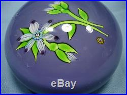 Rare Perthshire Annual Collection 1974b Le Lampwork Flower Spray Paperweight