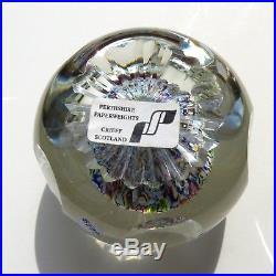 Rare Perthshire LE 2000F millefiori mushroom glass paperweight / presse papiers