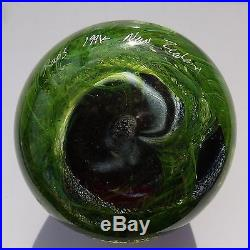 Rare Peter Raos Pacific glass paperweight signed + dated 1994 / presse papiers