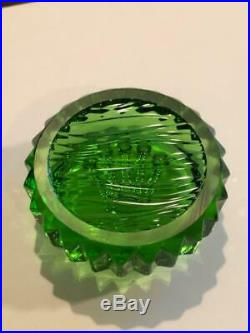 Rare Rolex Green Triplock Submariner Crown Paper Weight Crystal New Mint unused