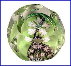 Rare Vintage 1985 Orient & Flume Studio Art Glass Cut Paperweight Sam Sturgeon