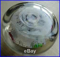 Rare Vintage Paul Ysart H Cane Harland Studio Art Glass Hand Blown Paperweight
