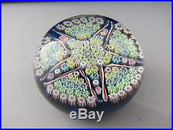 Rare Vintage Perthshire Millefiori Star Paperweight Signed 1977 P