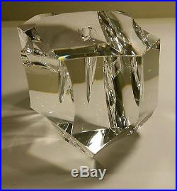 Rare Vintage Steuben Crystal Excalibur Paperweight & Sterling Silver 18k Sword