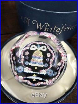 Rare Whitefriars Paperweight Christmas Bell 1980 Last in series LE #68 only 258