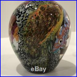 Rare and Hard To Find Peter Raos Signed Art Glass Underwater Paperweight 2001