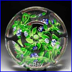 Rare antique Baccarat stylized floral bouquet faceted glass paperweight