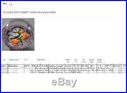Rare, stunning Perthshire 1993 JP/PM Collaborative pedestal paperweight 719