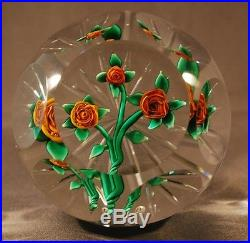Ray Banford Paperweight, Golden Rose Bouquet Perfect for Valentines Day