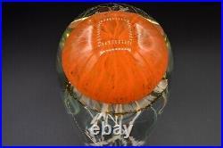 Richard Satava Art Glass Jellyfish Orange Sculpture Paperweight 5 3/4