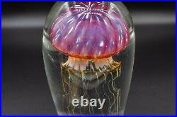 Richard Satava Art Glass Jellyfish Purple Sculpture Paperweight 5 READ DAMAGE