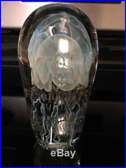 Richard Satava Art Glass Moon Jellyfish glass paperweight 1995