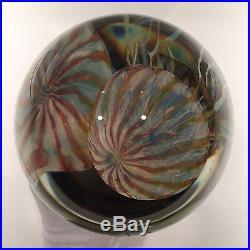 Richard Satava Double Passion Moon Jellyfish Art Glass Paperweight Sculpture