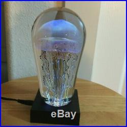 Richard (rick) Satava Studio Art Glass Jellyfish Sculpture/paperweight Nice One