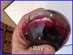 Rick Ayotte paperweight roses with dark red background appr. 3.5 x 2.5
