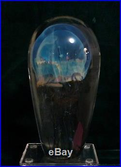 Rick Satava Moon Jellyfish Art Glass Sculpture Paperweight Signed 2685-99