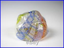 Ro Purser & Richard Marquis Noble Effort Art Glass Paperweight 1987