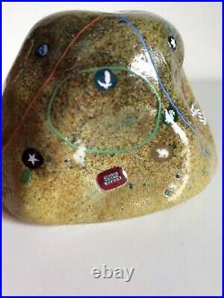 Rock Richard Marquis & Ro Purser Noble Effort Studio Art Glass Paperweight 1989