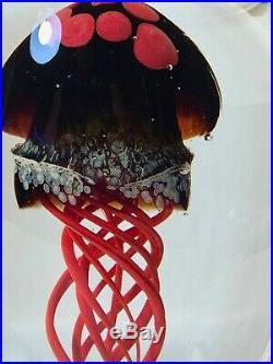 Rollin Karg Art Glass Jellyfish Sculpture Paperweight Beautiful