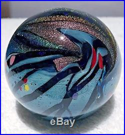 Rollin Karg Hand Blown Glass 3.25 inch diameter Confusion Signed Paperweight