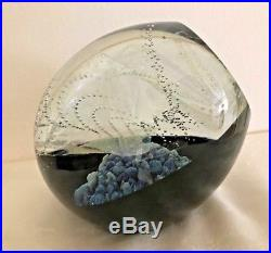Rollin Karg Hand Blown Glass Dichroic Impressive Small Convexed Mag 6.5 inch