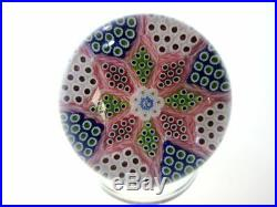 SAINT LOUIS PAPERWEIGHT 1989Eight pointed star with box Excellent++