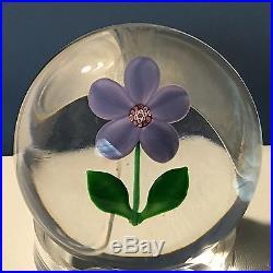 SAINT LOUIS Purple FLORALIES Violette Art Glass PAPERWEIGHT New In Box