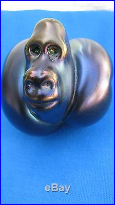 SALE! ORIENT and FLUME GORILLA PAPERWEIGHT Signed, Numbered, Tag, Box & Pamphlet