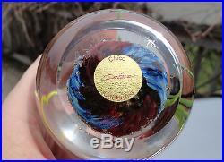 SIGNED RICHARD SATAVA LABEL ART GLASS CORAL REEF FISH AQUARIUM 3 PAPERWEIGHT
