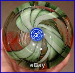 SIGNED! Sillars ORIENT & FLUME Studio Art Glass AMARYLLIS LILY Paperweight Vase