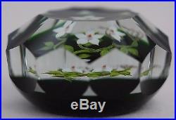SPLENDID Paul STANKARD Multifaceted MARSH GENTIAN Art Glass PAPERWEIGHT
