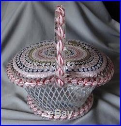 St Louis Glass Paperweight Magnum Basket 8 1/4 #13