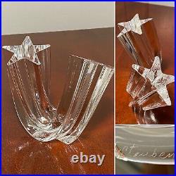 STEUBEN Crystal Art Glass STAR STREAM Figurine Paperweight #8567 by Neil Cohen