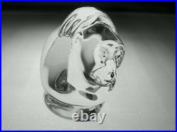 STEUBEN Glass MONKEY Hand Cooler Signed Crystal Paperweight BRAND NEW