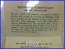 Stunning Perthshire Deacons 1976 Box Millefiori Magnum Cushion Glass Paperweight