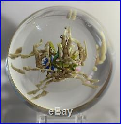 STUNNING Paul STANKARD Art Glass ROOT PEOPLE Spirit ORGY over Clear PAPERWEIGHT