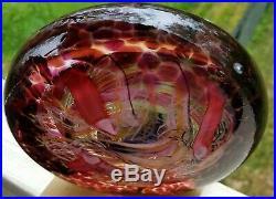 STUNNING RICK BECK (HAND BLOWN) Art Glass Disc Paperweight, Signed