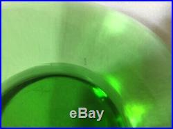 SUPER SIZED Green Art Glass MUSHROOM Paperweight