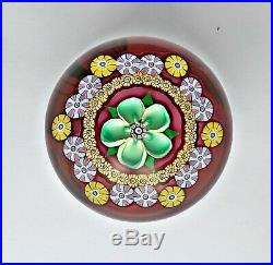 SUPERB Perthshire Millefiori Flower paperweight, limited edition 1982