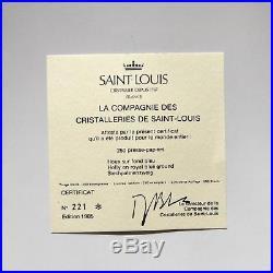 Saint Louis 1985 LE Holly glass paperweight + cert + box / presse papiers