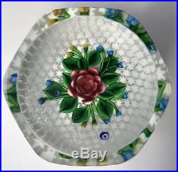 Saint Louis Floral Glass Paperweight 48/150 1997