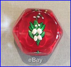 Saint Louis, Lily of the Valley Paperweight, France, 1982