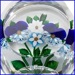 Saint Louis Ltd Edn Four Flowers Bouquet Paperweight 1983