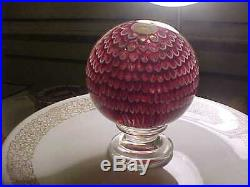 Saint Louis magnum newel post paperweight. Signed and dated 1977