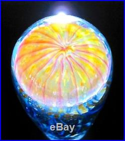 Satava Art Glass Studio Passion Moon Jellyfish Sculpture 6.25 with Light $650