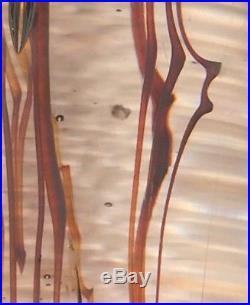 Satava Rare Vintage Large Hand Blown Jellyfish Art Glass Paperweight