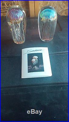 Satava glass sculpture pair